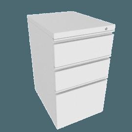 Tu W-Pull Freestanding Pedestal. box/box/file, White