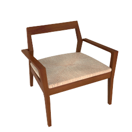 Krusin Lounge Armchair - Walnut