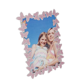 Butterfly Photo Frame - 6x4 Inch, Pink
