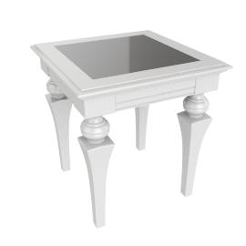 Taj End Table - White