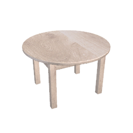 Bergerac Round Dining Table, Vanille