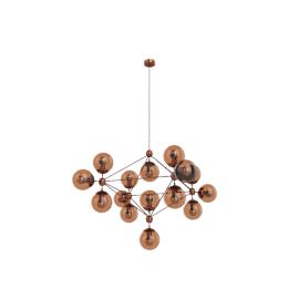 Modo Chandelier - 4 Sided - 15 Globe - Copper