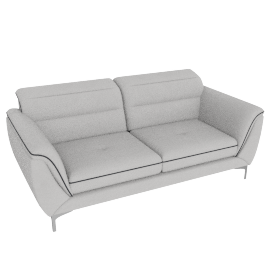 Galium 3 Seater, Light Grey