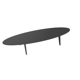 Bolinas Surfboard Coffee Table, Slate
