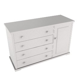 Boori Country 4 Drawer Dresser, White