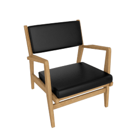 Jens Chair, Oak, Elmosoft Leather - Black