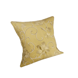 Winding Vines Cushion, Gold