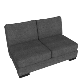 Signature 2 Seater Armless, Grey
