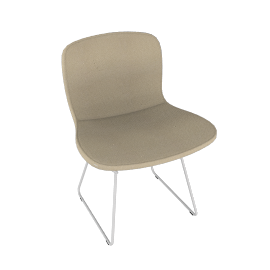Bertoia Side Chair with Full Cover – Bouclé