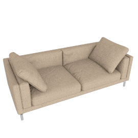 Como 92'' Sofa, Lama Tweed Oatmeal