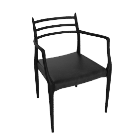 Moller Armchair 62 - Black