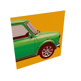 Mini Green, 40x40cm, by Phil Evans