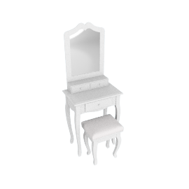 Nancy Dressing Table with Cushion Stool