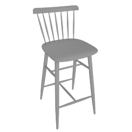 Salt Counter Stool, Grey