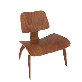Eames Molded Plywood LCW, Santos Palisander