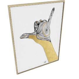 Sign Language V by KelliEllis - 54''x72'', Gold