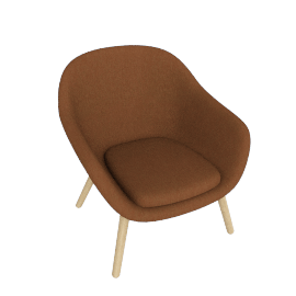 About A Lounge 82 Armchair, Low Back, CA 5011 Sand / Oak
