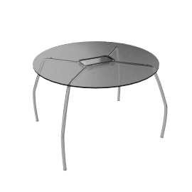 Cormarant Round Glass Dining Table