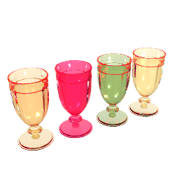 Bright Picnicware Sundae Glasses, Set of 4