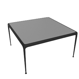 1966 Collection Porcelain Coffee Table, 28'' Square, Onyx
