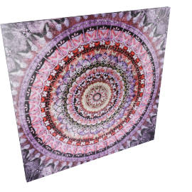 Kaleidascope Canvas With Diamonds 90X2.8X90Cm-Multicolor