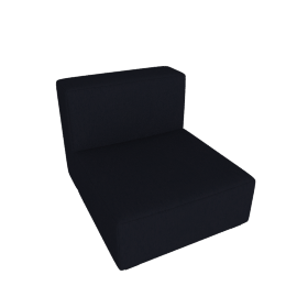Mags Soft Low Single Seater, Linara - Blueberry