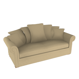 Ashley Grand Scatter Back Sofa, Beige