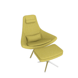 Metropolitan Chair in Fabric - Chartreuse