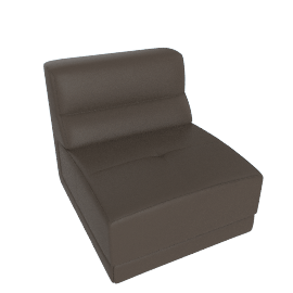 Lynsey 1-Seater Armless Sofa, Charcoal