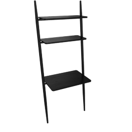 Folk Ladder 32'' Desk Shelving, Black