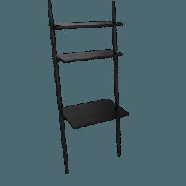 Folk Ladder 32'' Desk Shelving, Black