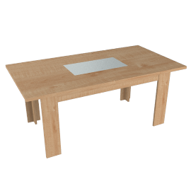 Strata Dining Table, Oak