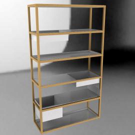 Lap Shelving System, Tall Frame - Oak