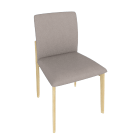 Contour Chair, Kalahari Leather Grey with Oak Leg
