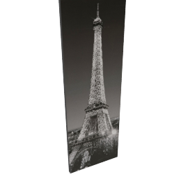 Glitter Eiffel Printed Canvas