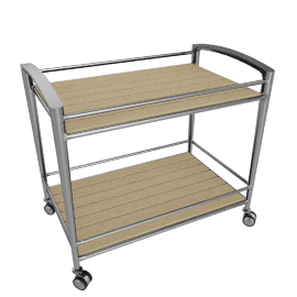 Silver Collection Bar Cart