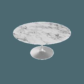 Saarinen Round Dining Table 60'', Coated Marble 1 - Plt.Arabescato