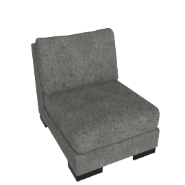Signature 1 Seater Armless, Silver Gray