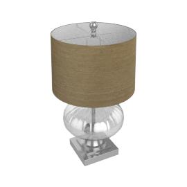 Arcturus Glass Table Lamp- 65Cmh- Smoke Grey