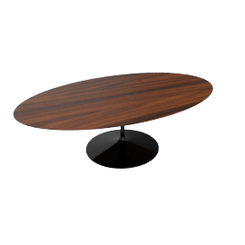Saarinen Oval Dining Table 96'',Rosewood - Black.Rosewood