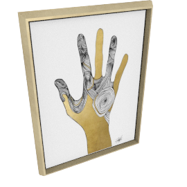Sign Language I by KelliEllis - 24''x32'', Gold