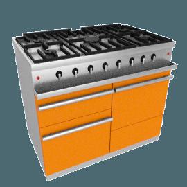 Westahl WG1052GE Dual Fuel Cooker, Mandarin