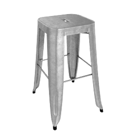 Marais Counter Stool - Gunmetal.Grey