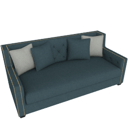 Turin Studded 3-Seater Sofa
