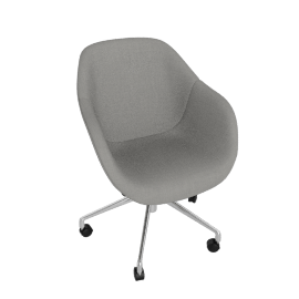 About A Chair 153 Office Chair, Remix 123, polished aluminum