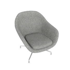 About A Lounge 81 Swivel Chair, Low Back, Divina Melange 120 Light Grey / Aluminum