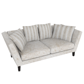Regency Large Sofa, Marlow Putty/Marlow Putty Stripe