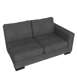 Signature 2 Seater With Right Arm, Grey