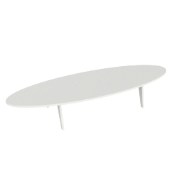 Bolinas Surfboard Coffee Table, White