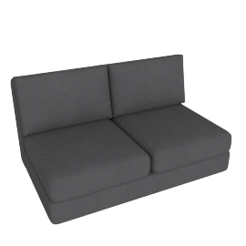 Eterno 2 Seater Armless, Stone